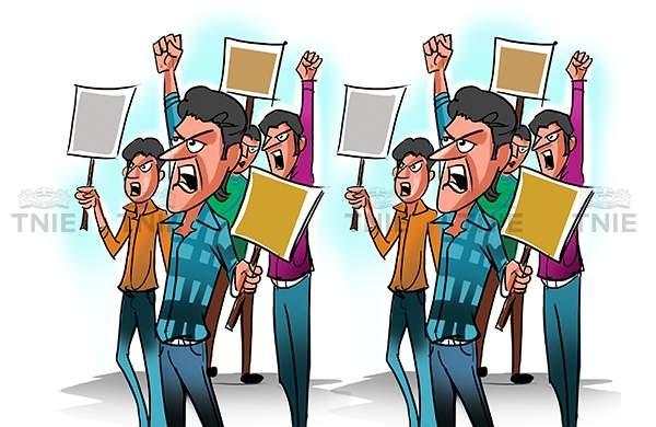 BJP women's wing protests against rape accused Dhananjay Munde in Pune