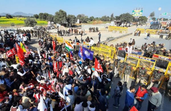 Farmer protest day 49: Temporary Gurdwara set up at Singhu border