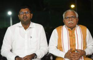 Khattar,Chautala meet Amit Shah, sayBJP-JJP govt in Haryana 'strong'