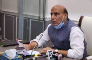 Rajnath Singh visits Union minister Shripad Naik in Goa hospital
