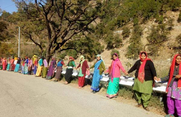 Uttarakhand: CM gives way after 19 Km-long human chain formed to demand road widening