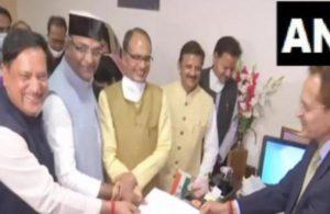 BJP MLA Girish Gautam files nomination for Madhya Pradesh Assembly Speaker's post