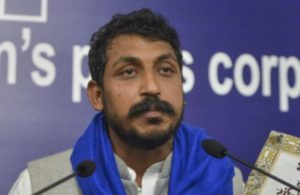Chandrashekhar Azad stages dharna after police stop him from meeting Unnao girl who was poisoned