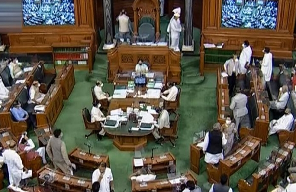LS adjourned till February 8 asopposition members continue with protest over farm laws