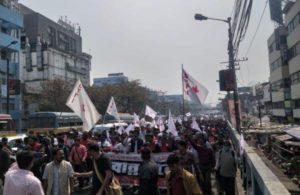 Left activists try to enter Bengal secretariat, held
