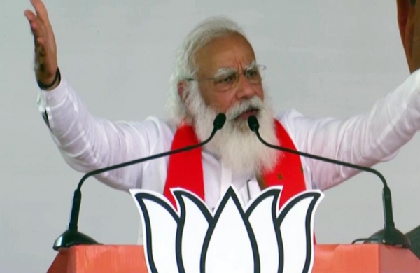 Beware of Congress-AIUDF 'Mahajoth' as it's 'Mahajhoot', alleges PM Modi at Assam rally