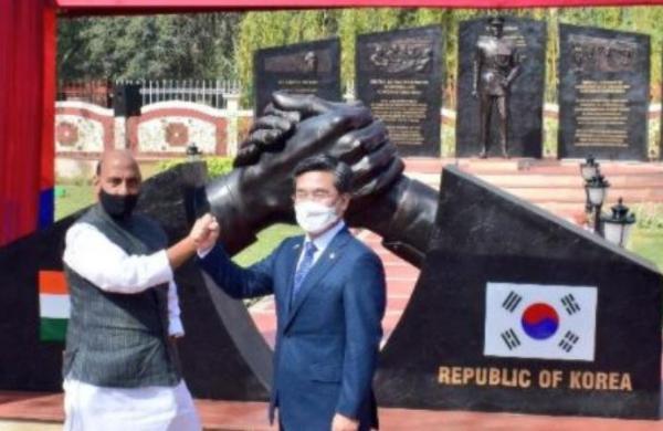 Rajnath Singh, South Korean minister inaugurate Indo-Korean friendship park in Delhi