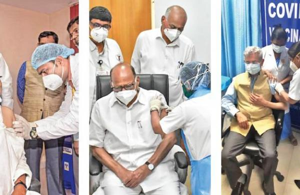 VVIPs lead the way, get first Covid vaccine dose