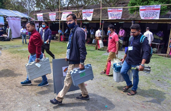 Assam Congress alleges lapses in security of EVMs, strong room ahead of counting day