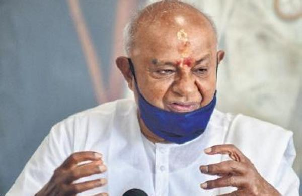 Ban public gatherings, victory rallies for six months: Deve Gowda to PM Modi