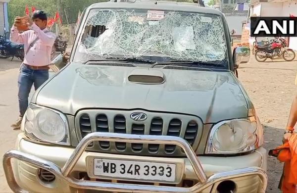 Bengal polls: BJP candidate's car vandalised, three held