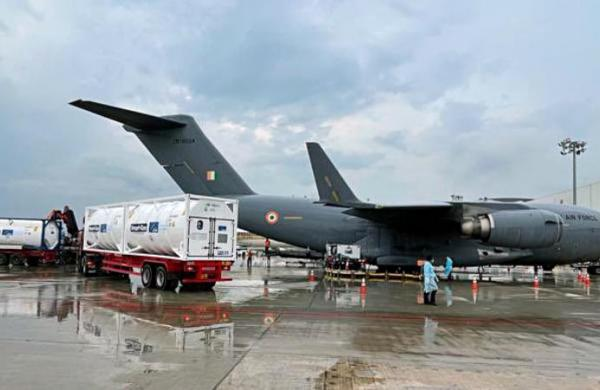 COVID-19: Indian Air Force airlifts 9 cryogenic oxygen containers from Dubai, Singapore