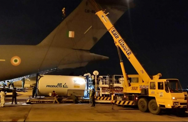 IAF airlifts 13 empty cryogenic oxygen tankers from Bangkok, Singapore, Dubai