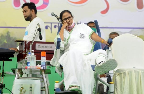 Mamata seen shaking injured leg in video sparks war of words between Trinamool,BJP