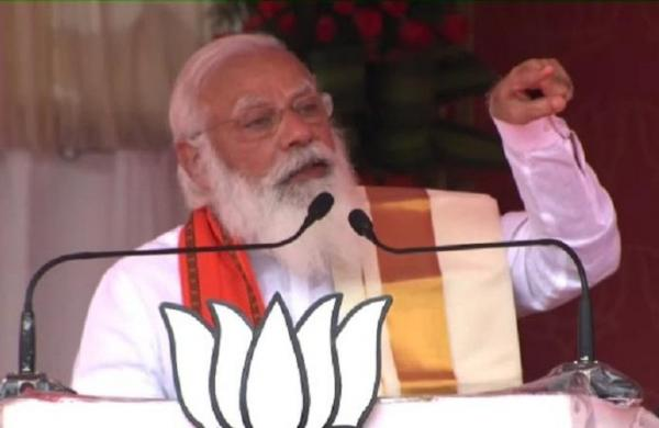 People have shown red card to Congress-AIUDF alliance: PM Modi in Assam