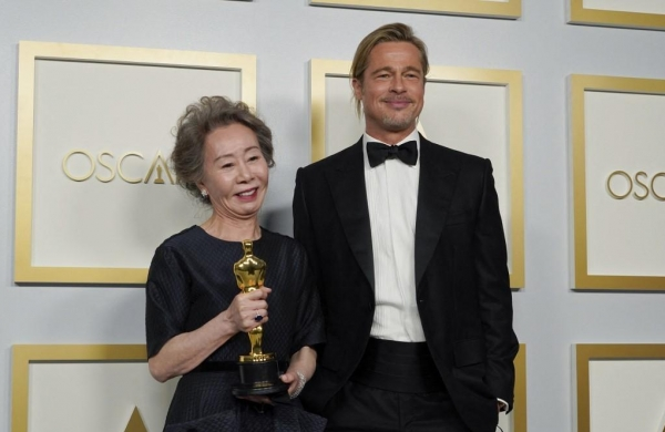 WATCH | 'I didn't smell him, I'm not a dog': Youn Yuh Jung responds to media after viral moment with Brad Pitt on Oscar stage