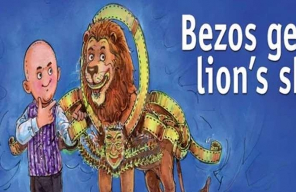 Bezos gets the lion's share: Amul's 'topical' doodle celebrates Amazon's acquisition of MGM