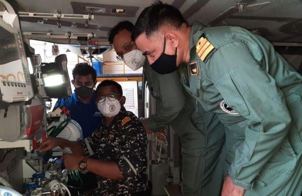 Navy converts its all-weather chopper into air ambulance for critical patients' evacuation
