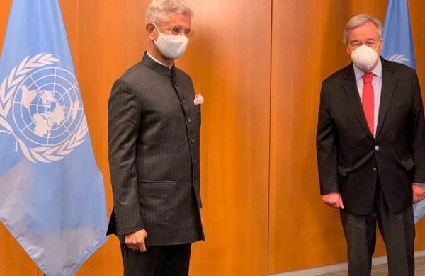 Vaccine and other issues in Jaishankar's talk with UN Secretary General