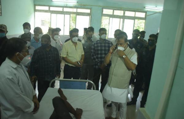 Assam CM Himanta Biswa Sarma visits hospitalised cops injured in border clash with Mizoram