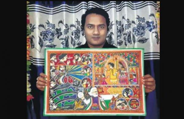Bihar: Colourful creations of colour-blind painter winning hearts & laurels