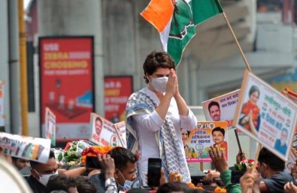 In Lucknow, Priyanka Gandhi lashes out against PM Modi for praising Yogi govt's Covid 'management'