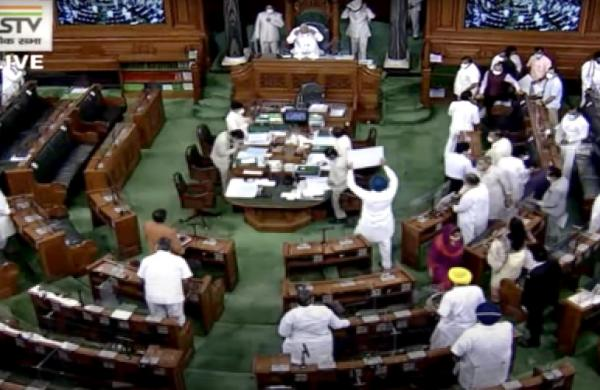Lok Sabhaadjourned for third time as opposition creates ruckusover Pegasus, other issues