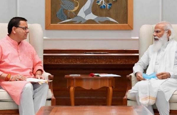 Uttarakhand CM Dhami calls on PM Modi, seeks directions on third wave andChar Dham Yatra