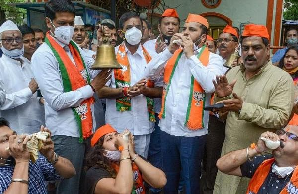 BJP workers stage protests across Maharashtra for reopening of temples