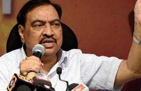 ED attaches ex-Maharashtraminister Eknath Khadse's assets in money laundering case