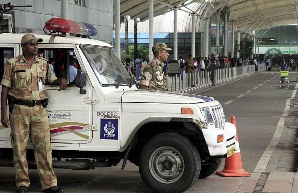 Sena workers damage 'Adani Airport' signboard near Chhatrapati Shivajistatue in Mumbai