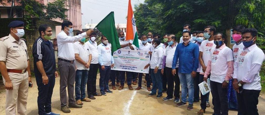 गरियाबंद में फिट-इंडिया फ्रीडम-रन का आयोजन