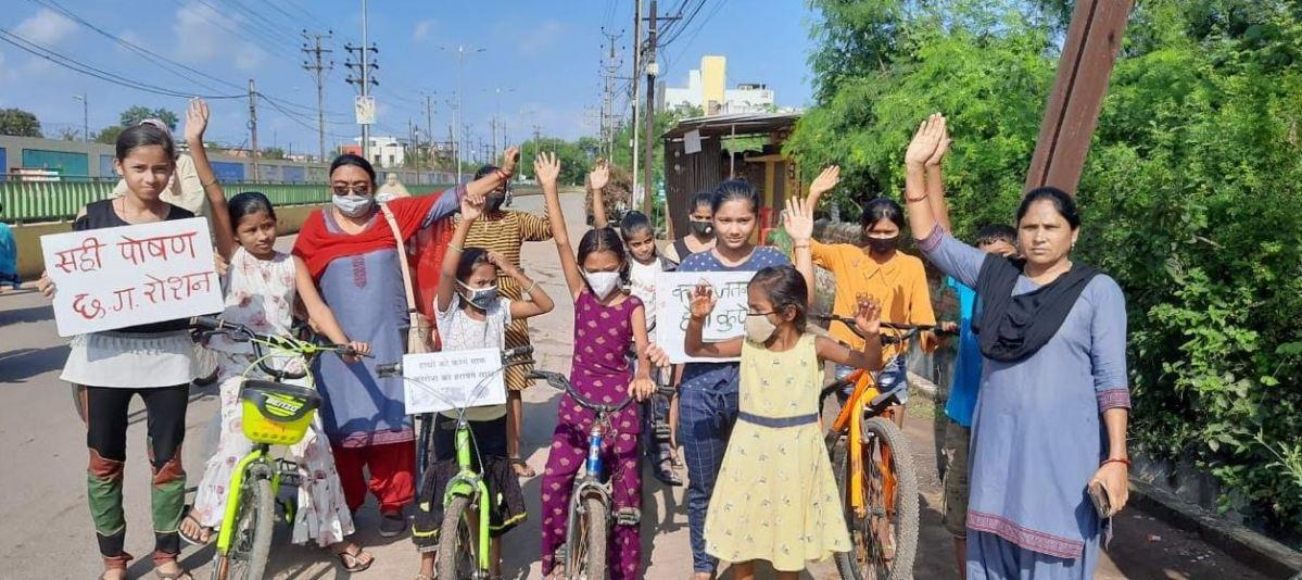 साइकिल रैली निकाल कर दिया पोषण का संदेश