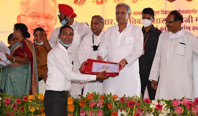 प्रयास आवासीय विद्यालय के श्री ओमप्रकाश साहू को राज्य शिक्षक सम्मान