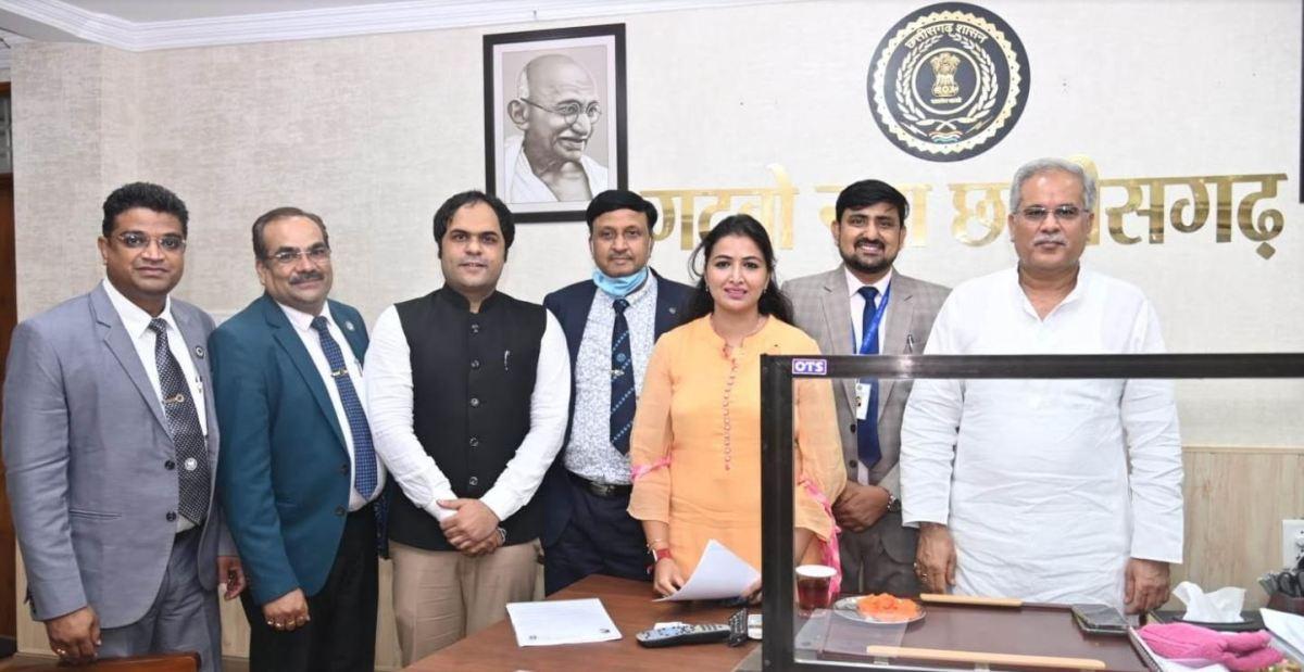 मुख्यमंत्री से आईसीएआई के प्रतिनिधि मंडल ने की मुलाकात