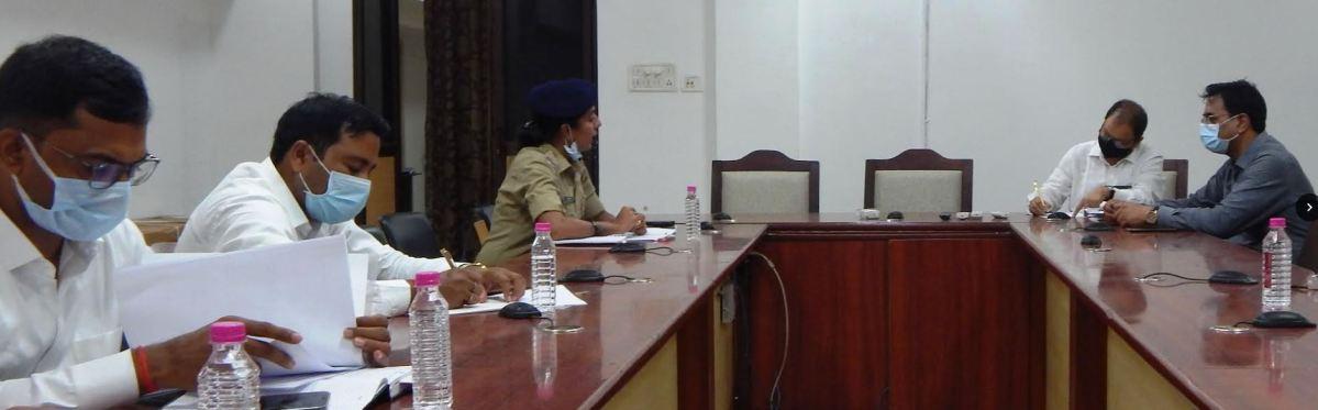 रायपुर 29 सितंबर 2021/ स्वापक औषधि मनः प्रभावी पदार्थों पर प्रभावी नियंत्रण हेतु जिला स्तरीय समन्वय समिति की बैठक आयोजित