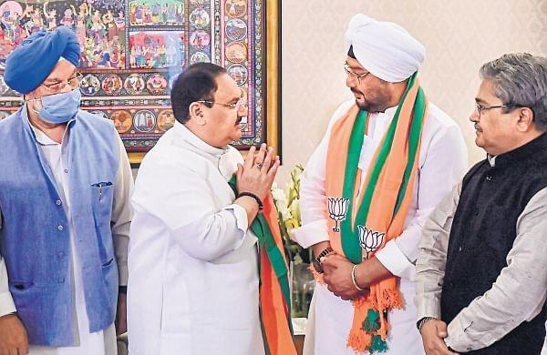 BJP inducts ex-prez Giani Zail Singh's grandsonInderjeet ahead of Punjab polls