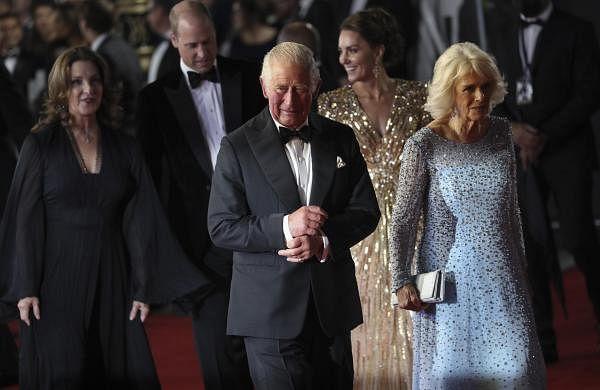 British royals join cast of new Bond film for glitzy London premiere