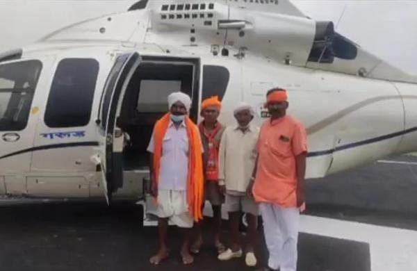 Four tribals get ride in Madhya Pradesh CM 's official chopper; thank him for his generosity