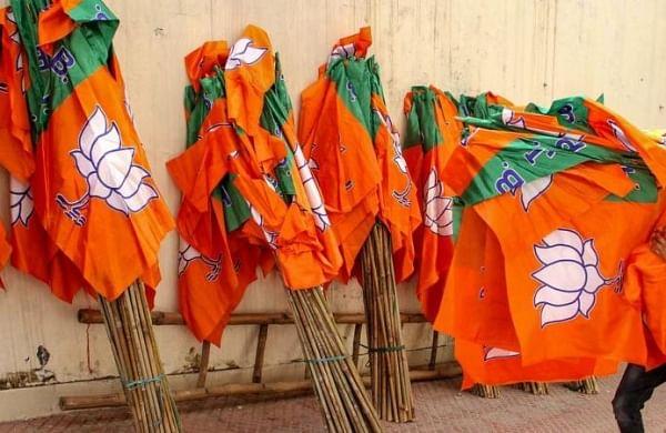 Haryana: Farmers hold protest near BJP meeting venue in Karnal
