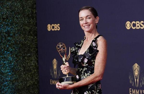 WATCH | Actor Julianne Nicholson gives subtle nod to women in Texas, Afghanistan atEmmys 2021