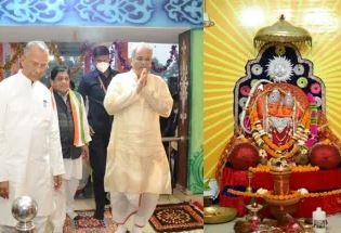मुख्यमंत्री ने कौशल्या माता मंदिर में पूजा-अर्चना कर प्रदेशवासियों की खुशहाली की कामना की