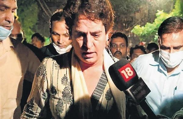 Lakhimpur violence: Priyanka Gandhi arrested, Baghel stopped from leaving Lucknow airport