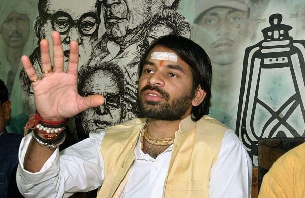 Lalu being held hostage in Delhi despite bail, alleges son Tej Pratap Yadav