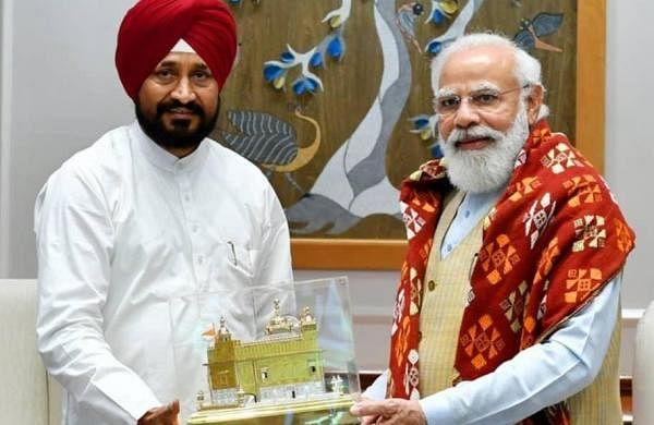 Newly elected Punjab CM Charanjit Singh Channi meets PM Modi